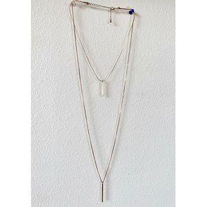 BaubleBar Jewelry - SUGARFIX Layered Bar Necklace Gold vertical